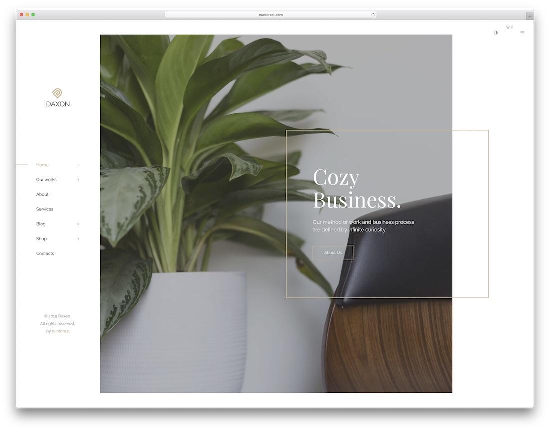 daxon freelancer website template