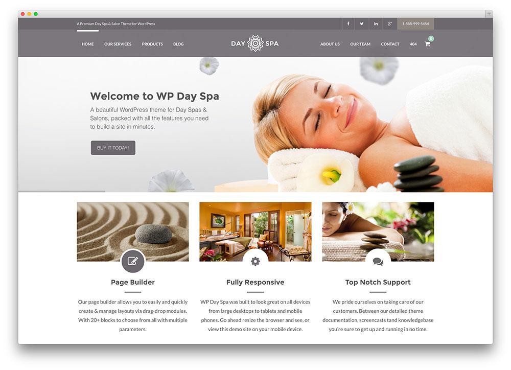 25 Beautiful Spa Amp Beauty Salon Wordpress Themes 2016