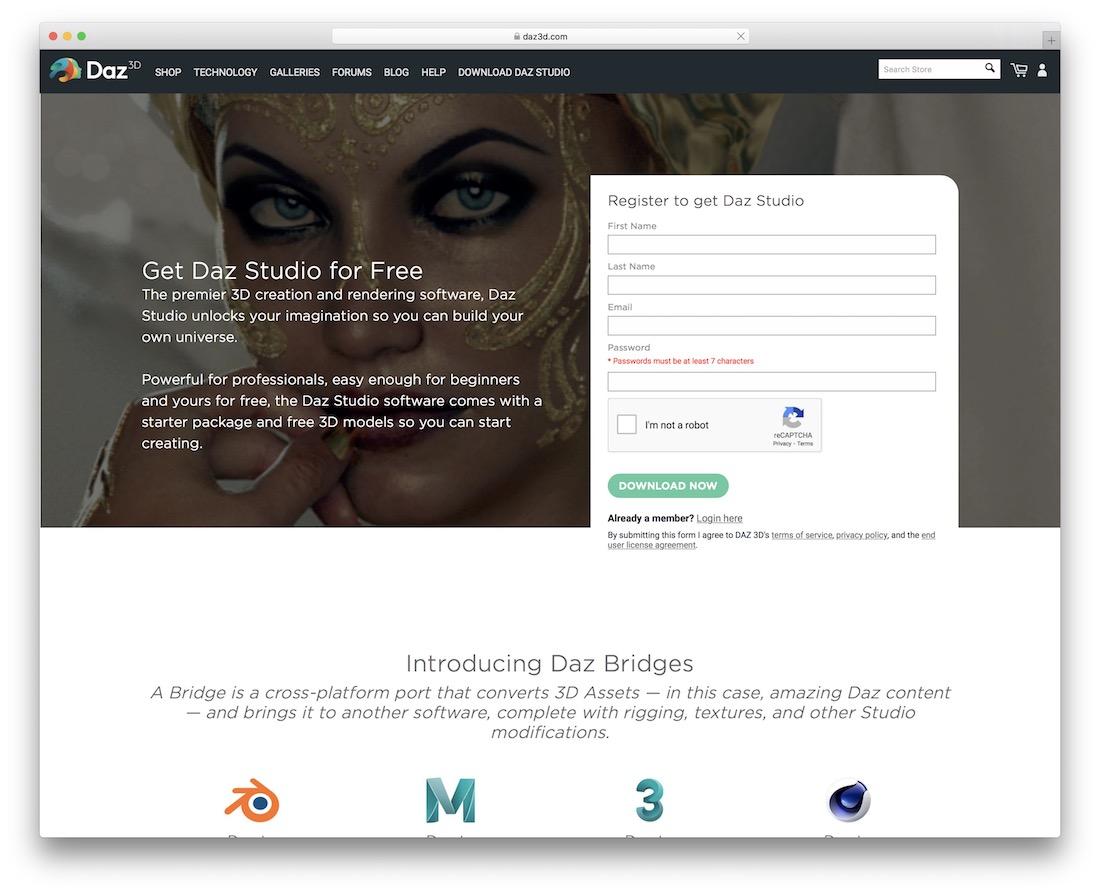 daz 3d editing tool