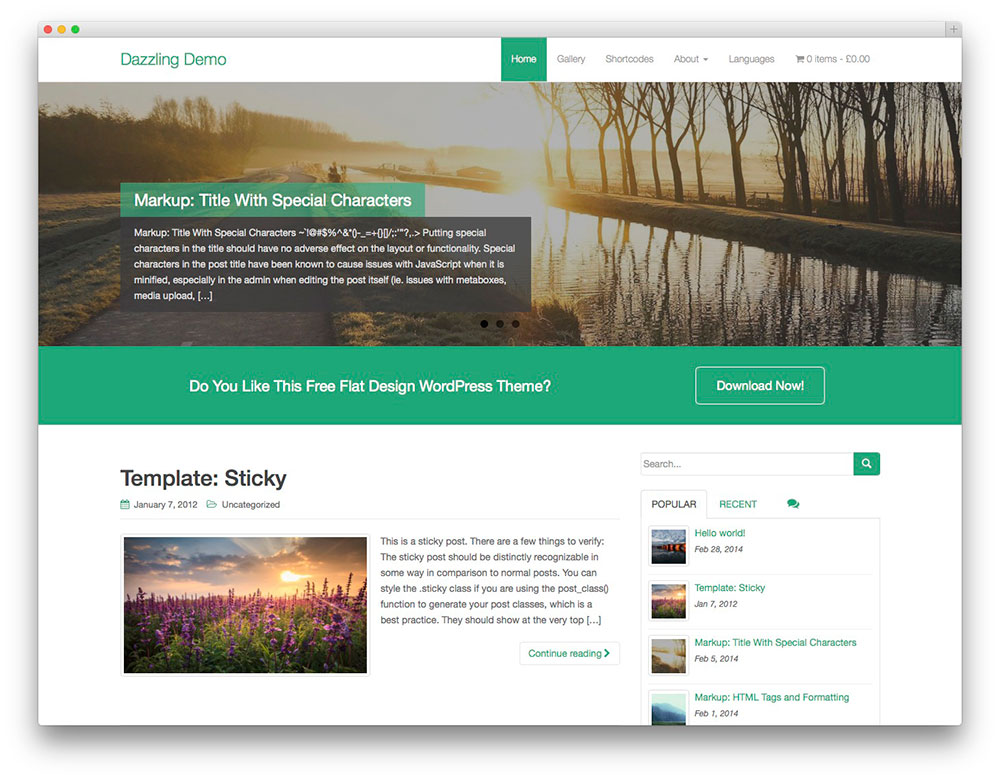 Dazzling - Free Bootstrap Business template
