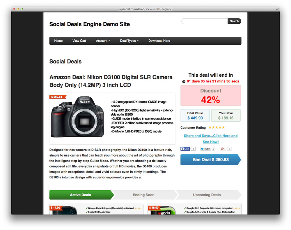 En customer account createpost/downloader - Deals Engine Plugin