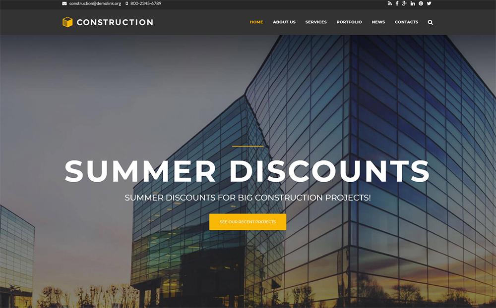 Construction Company Premium Drupal Template