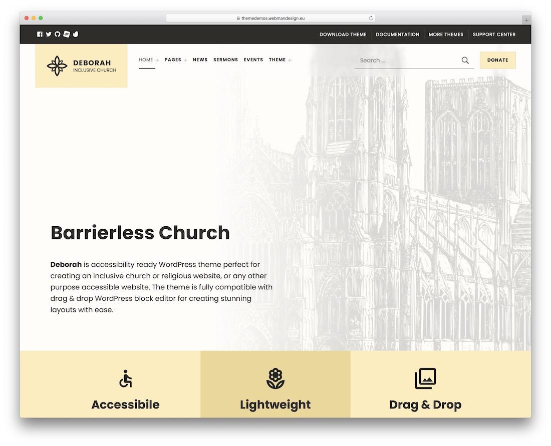 deborah church wordpress theme