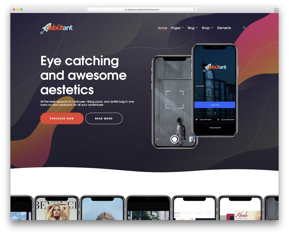 debutant fastest mobile wordpress theme
