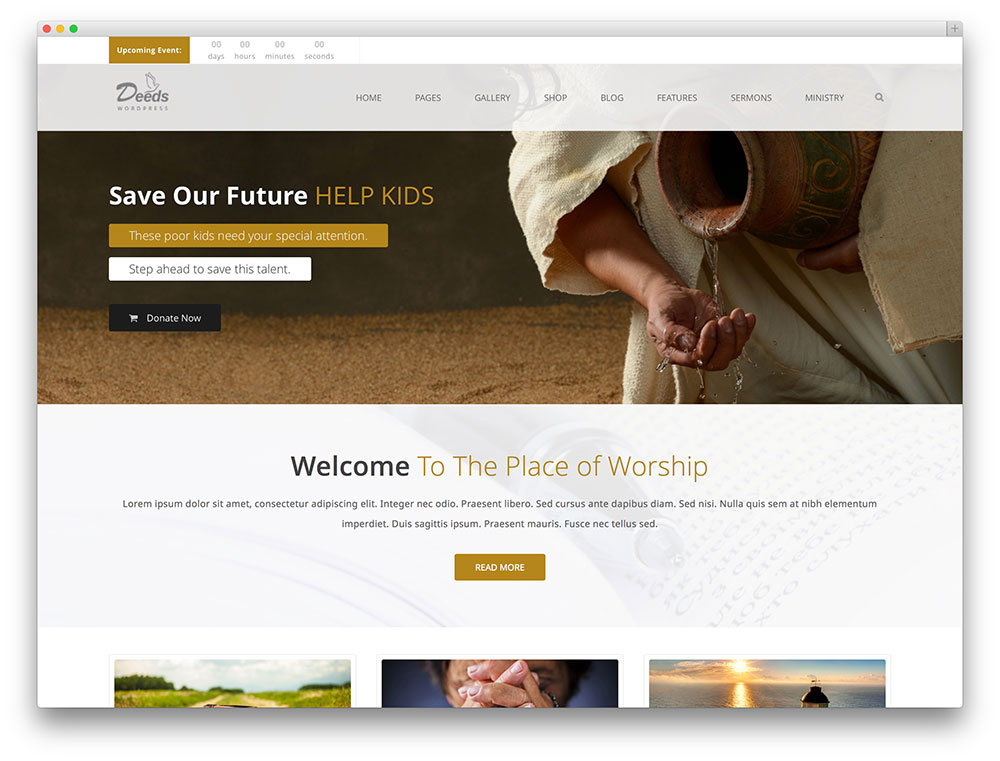 deeds church and non-profit theme