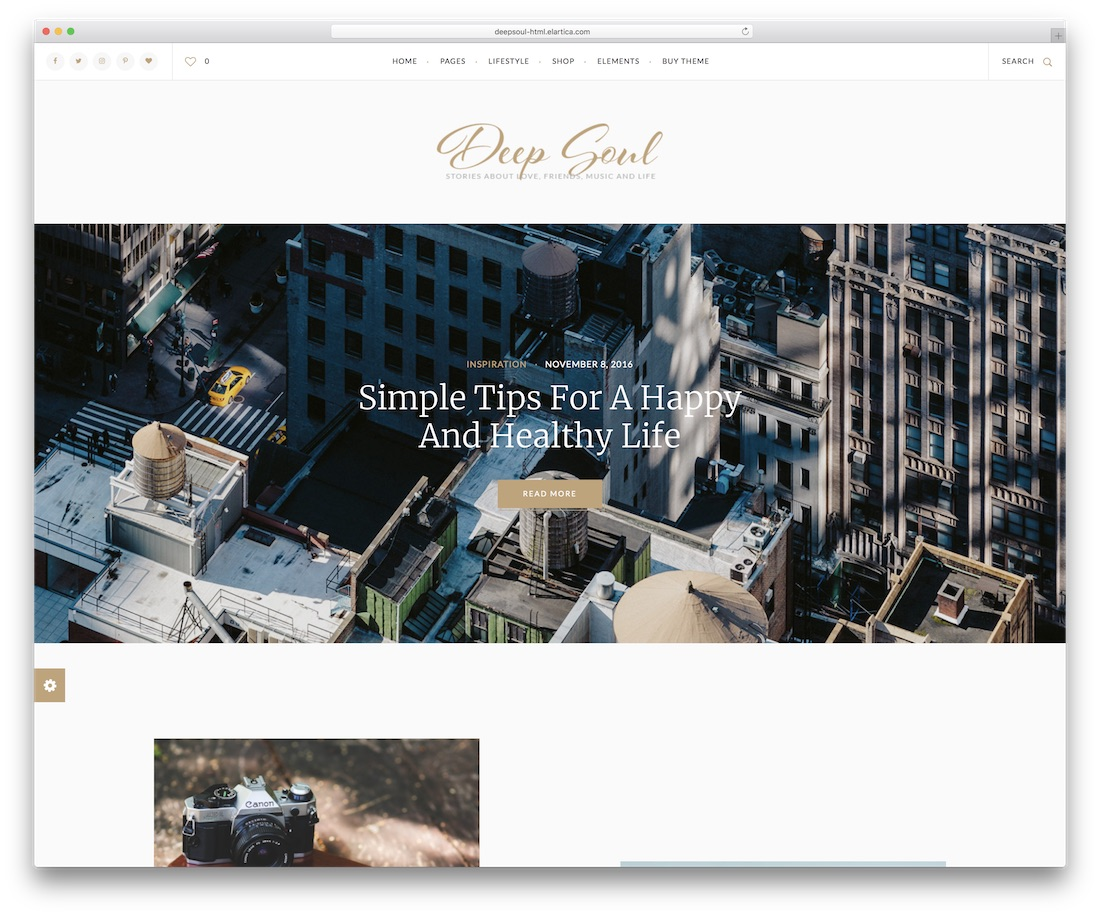 deep soul blog website template