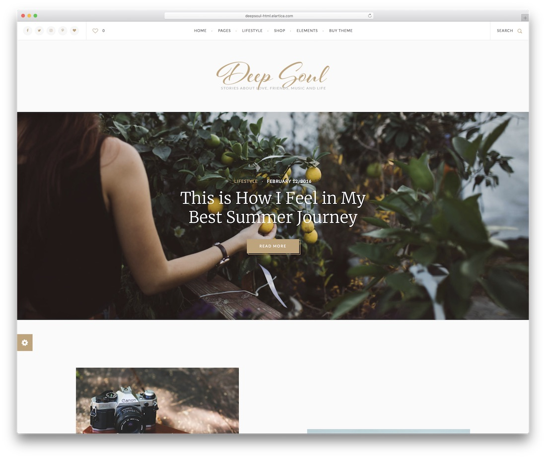 deep soul food website template