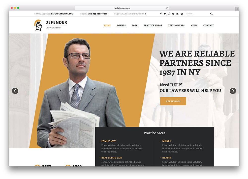 defender - clean attorney theme