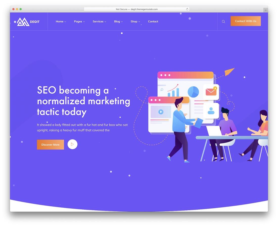 degit marketing website template