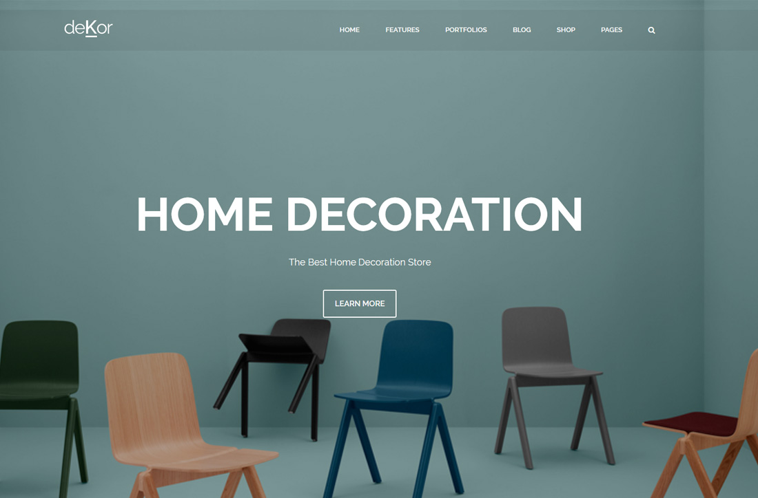 24 best responsive interior design website templates 2018 for Best interior design sites
