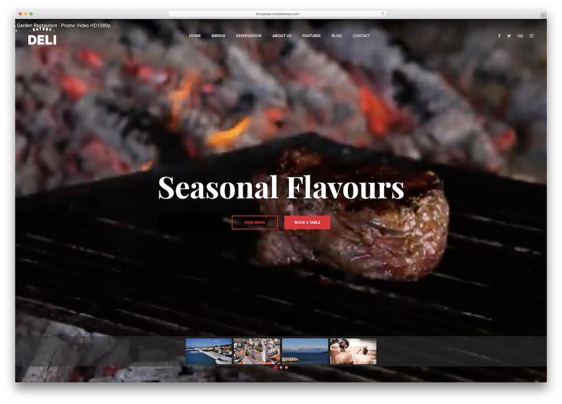 deli restaurant html5 website template
