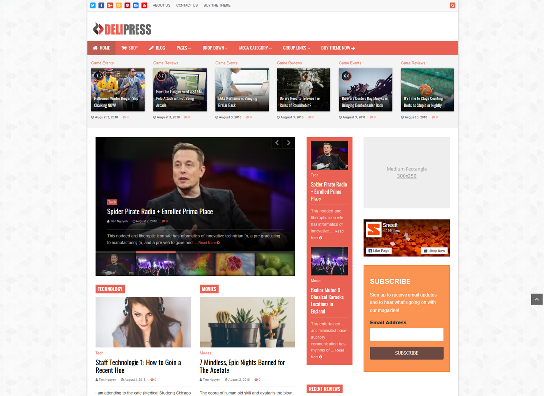 DeliPress | Magazine and Review WordPress Theme