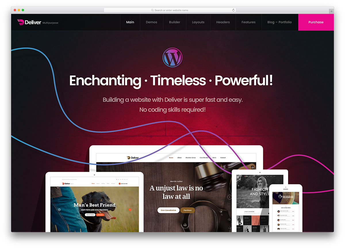 50 best wordpress corporate business themes of 2018 colorlib deliver creative wordpress business website template accmission Gallery