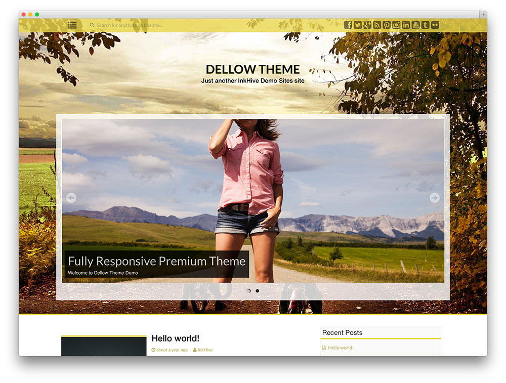 dellow WordPress template