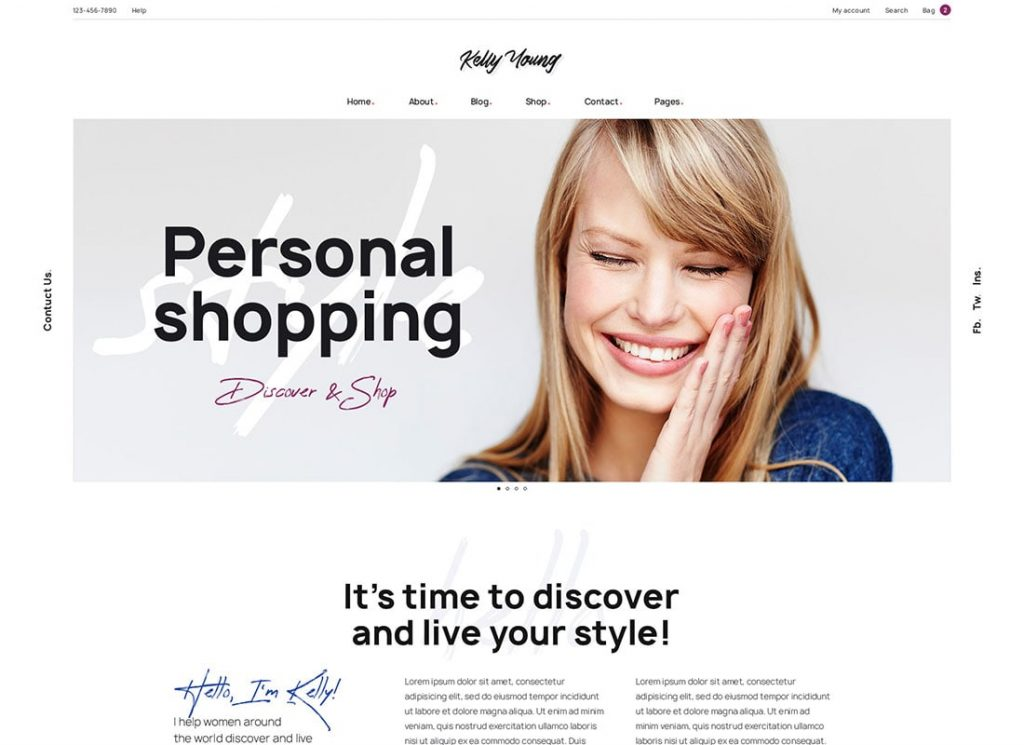 Kelly Young | Personal Stylist WordPress Theme