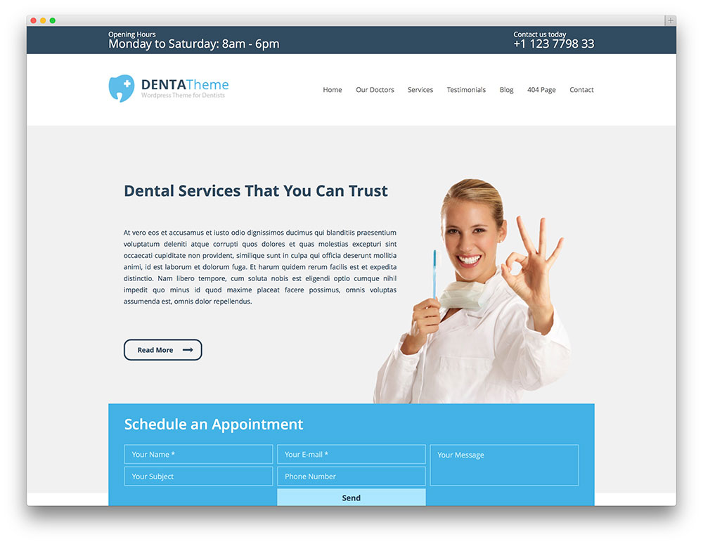 denta - dental wordpress theme
