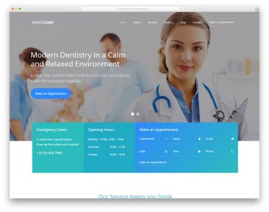 Dentacare Free Template