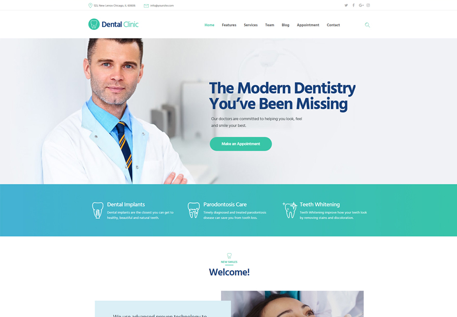 Dental Clinic| Dental Clinic, Medicine & Healthcare WordPress Theme