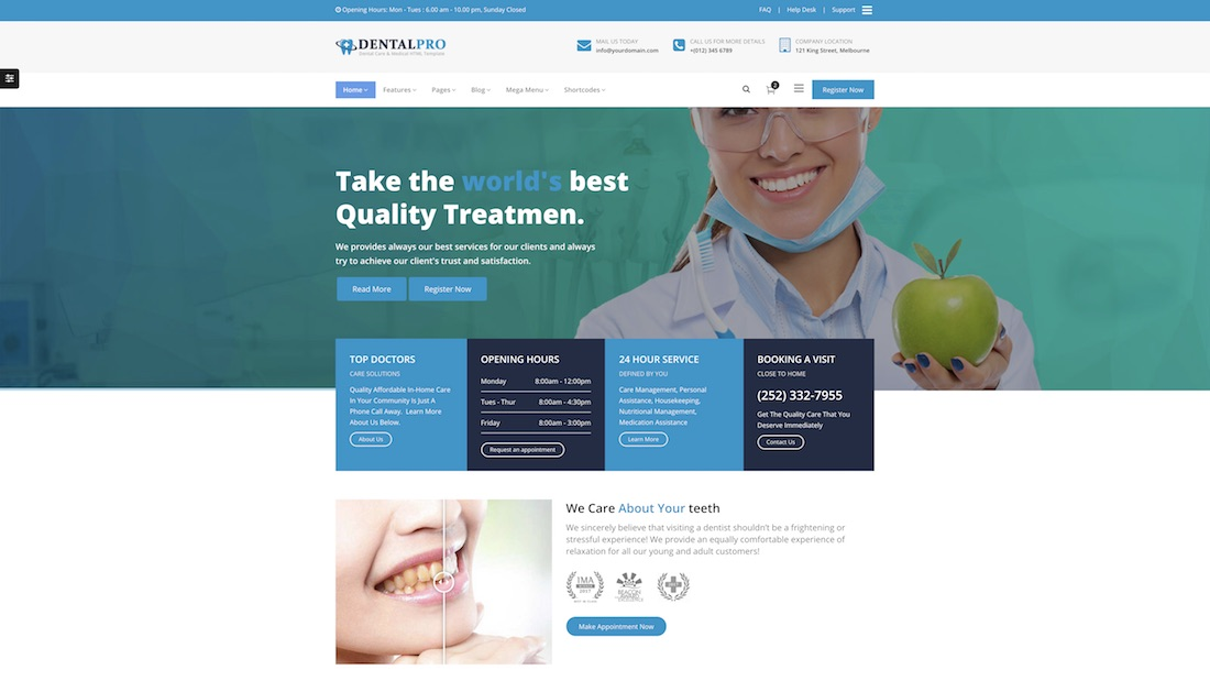 dental pro website template