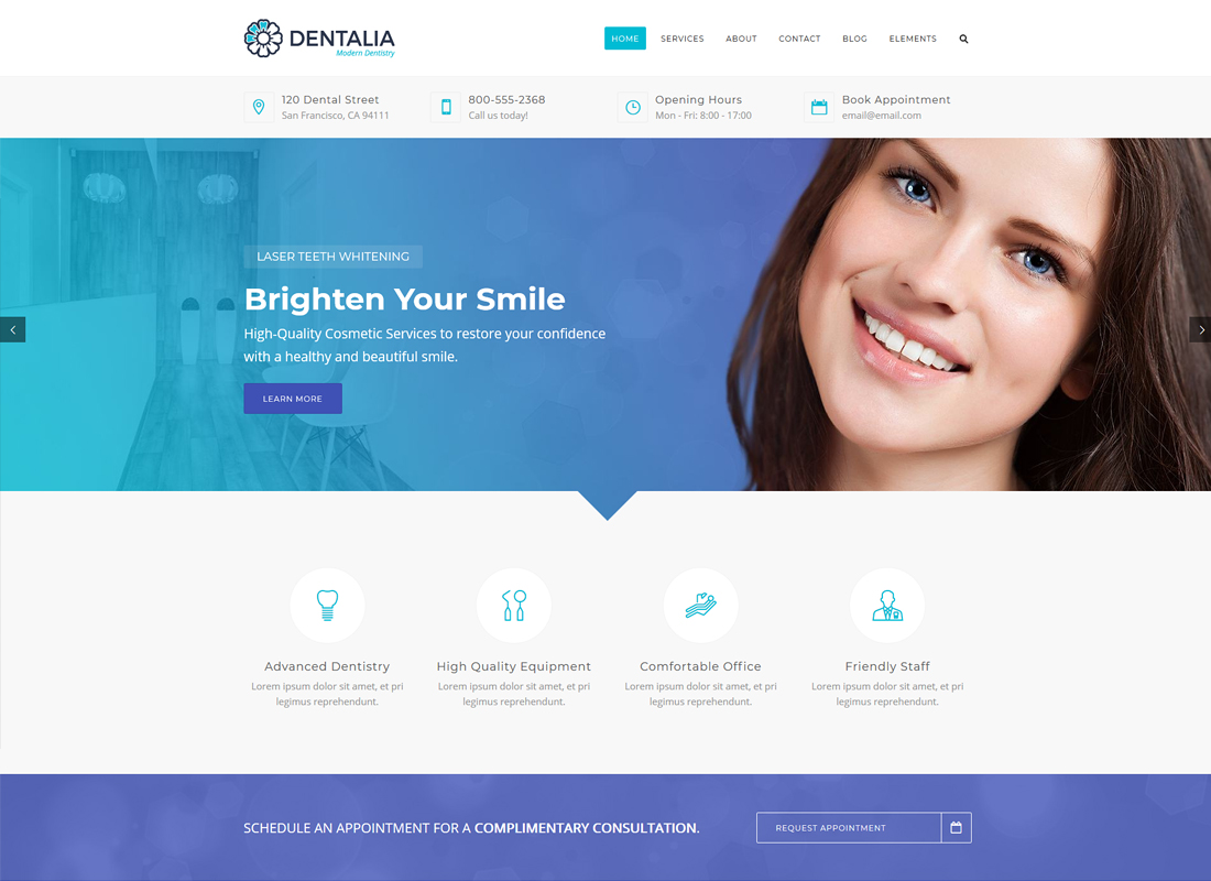 Dentalia | Dentist & Medical WordPress Theme