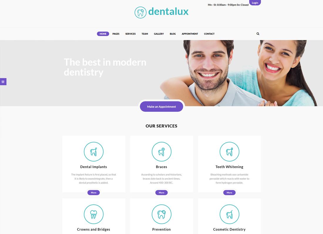 Dentalux   A Dentist Medical & Healthcare WordPress Theme