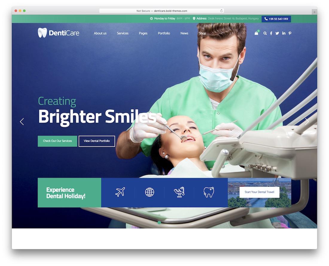 denticare doctor wordpress theme