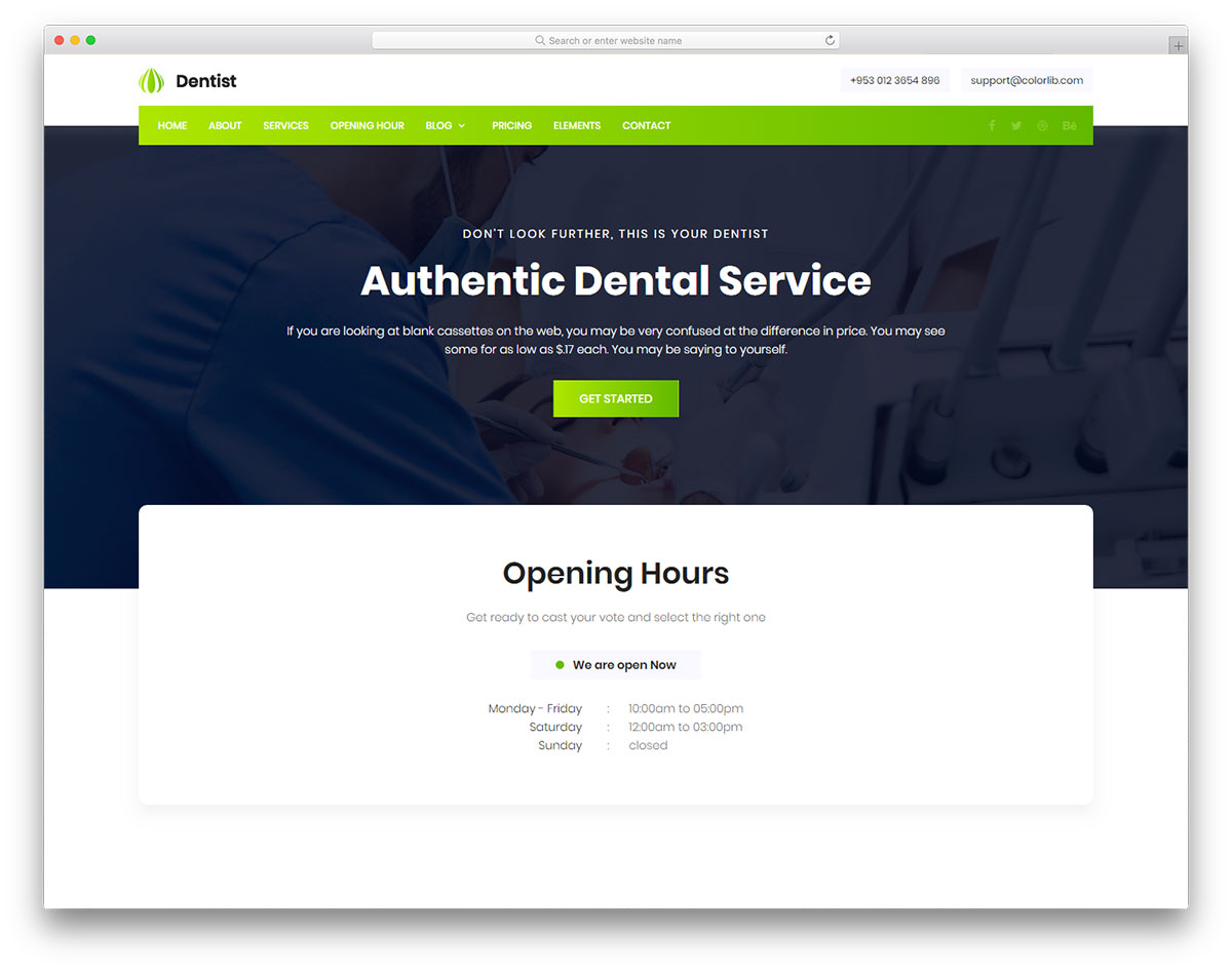 Скачать бесплатно html шаблон Dentist