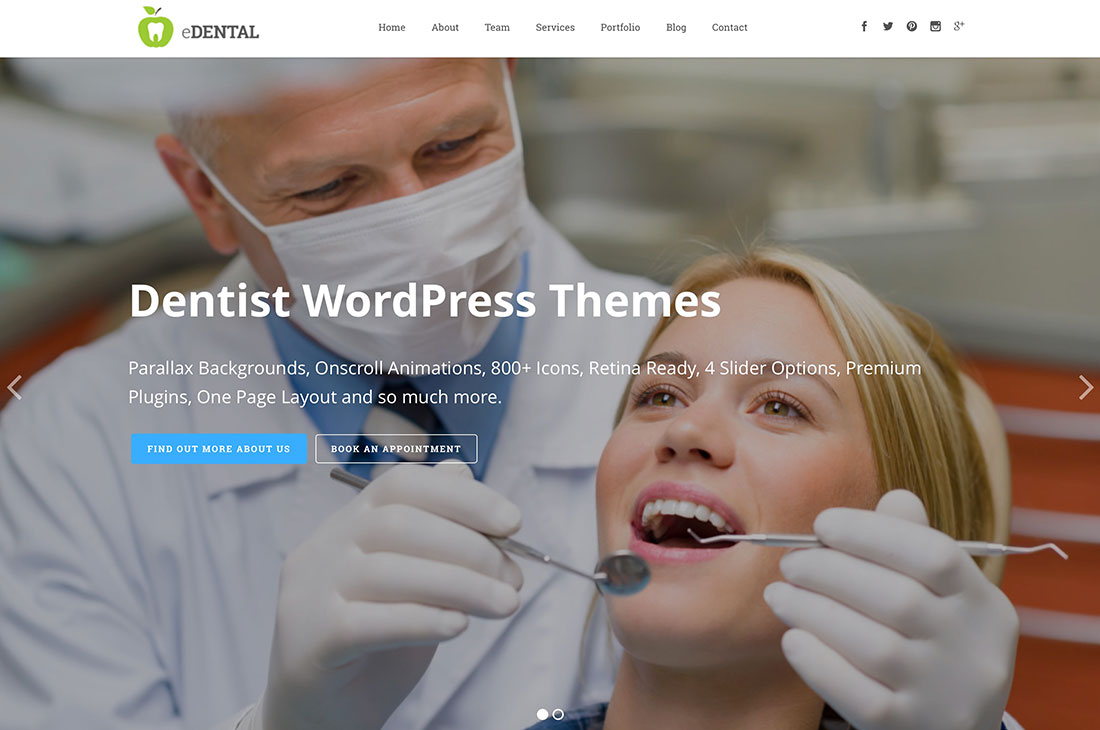 dentist wordpress theme free download