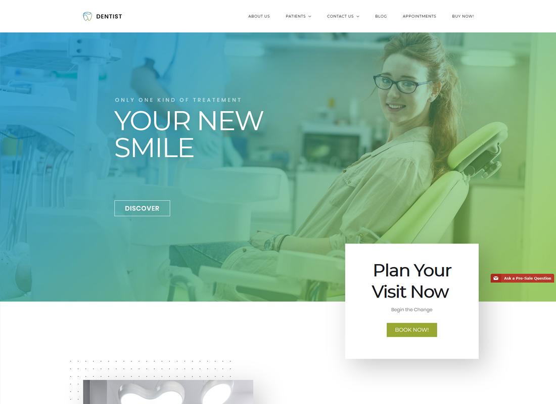 Dentist   Dentist, Medical Hospital WordPress Theme