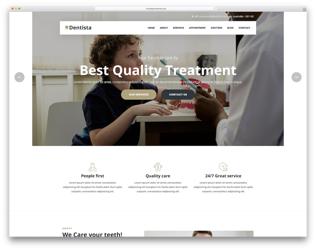 dentista doctor website template