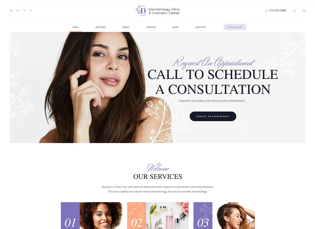 D&C | Dermatology Clinic & Cosmetology Center WordPress Theme