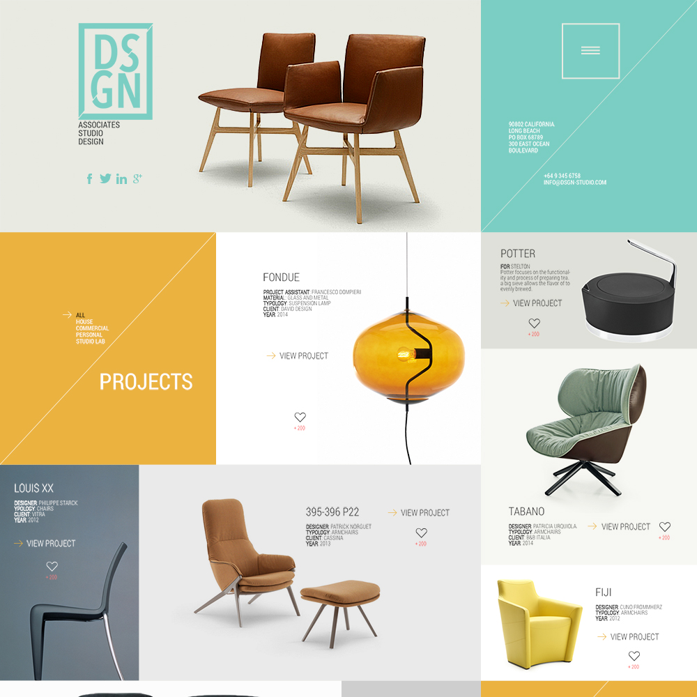 Design Grid Free PSD Website Template