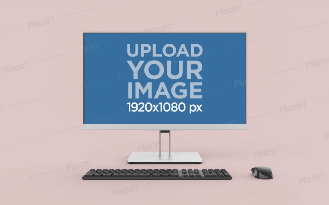 desktop pc mockup