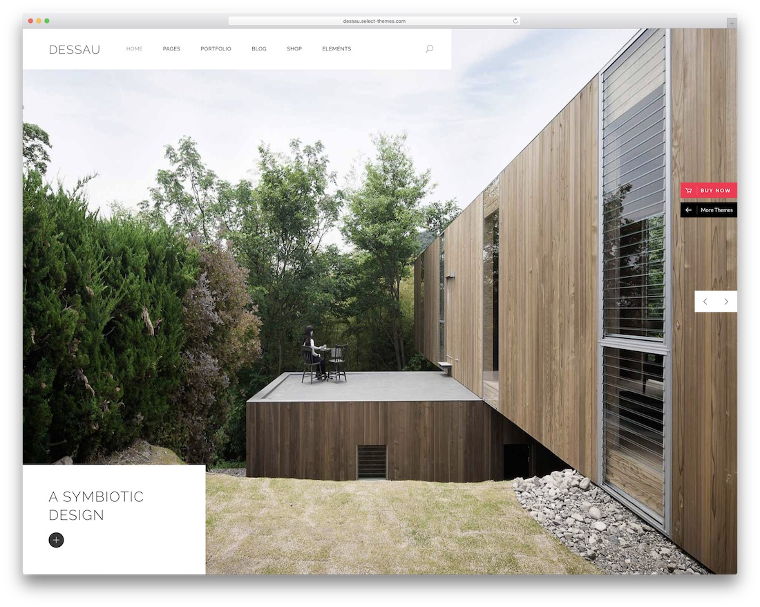 dessau wordpress theme for architects