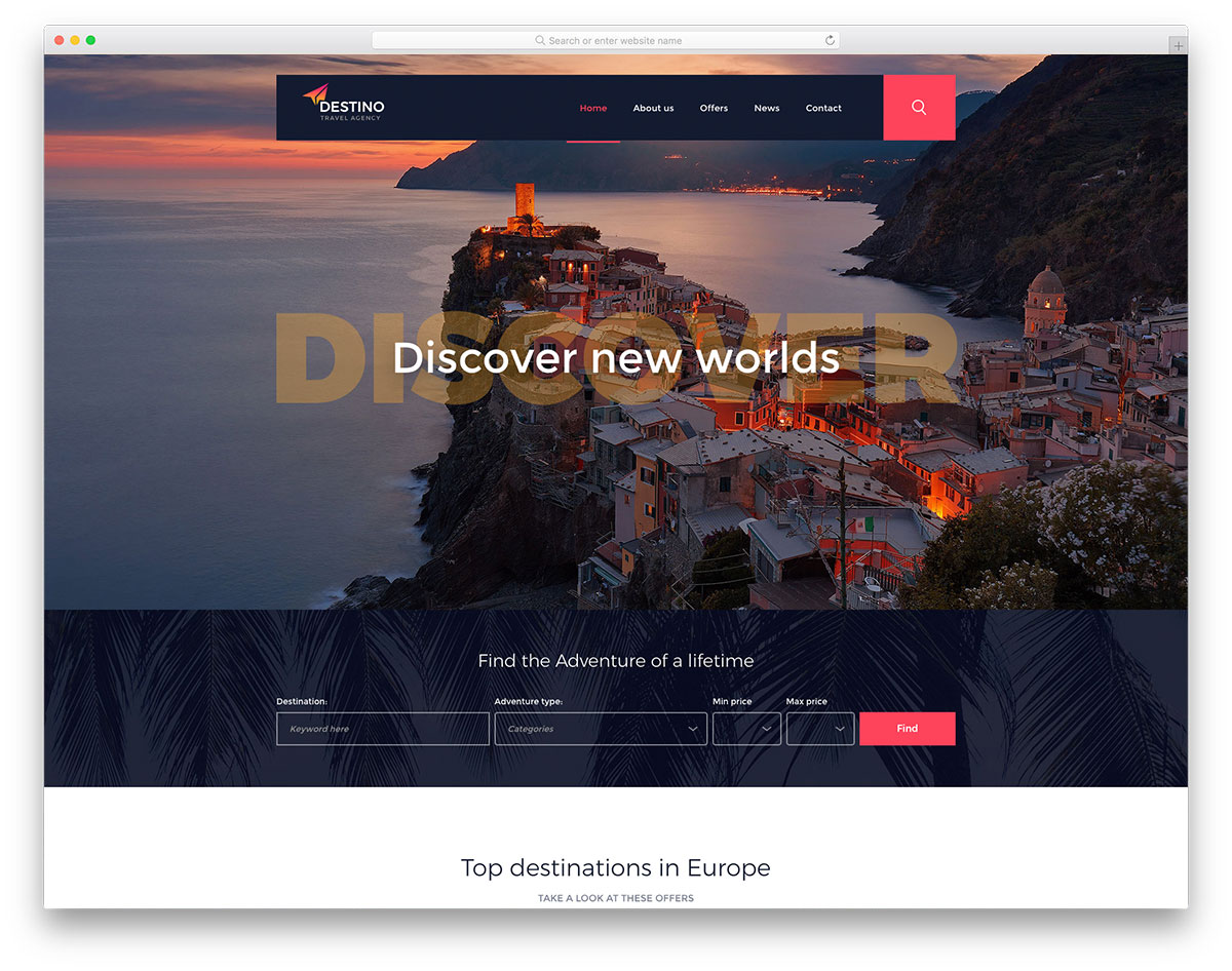 30 best free travel website templates to make an eye catching travel website