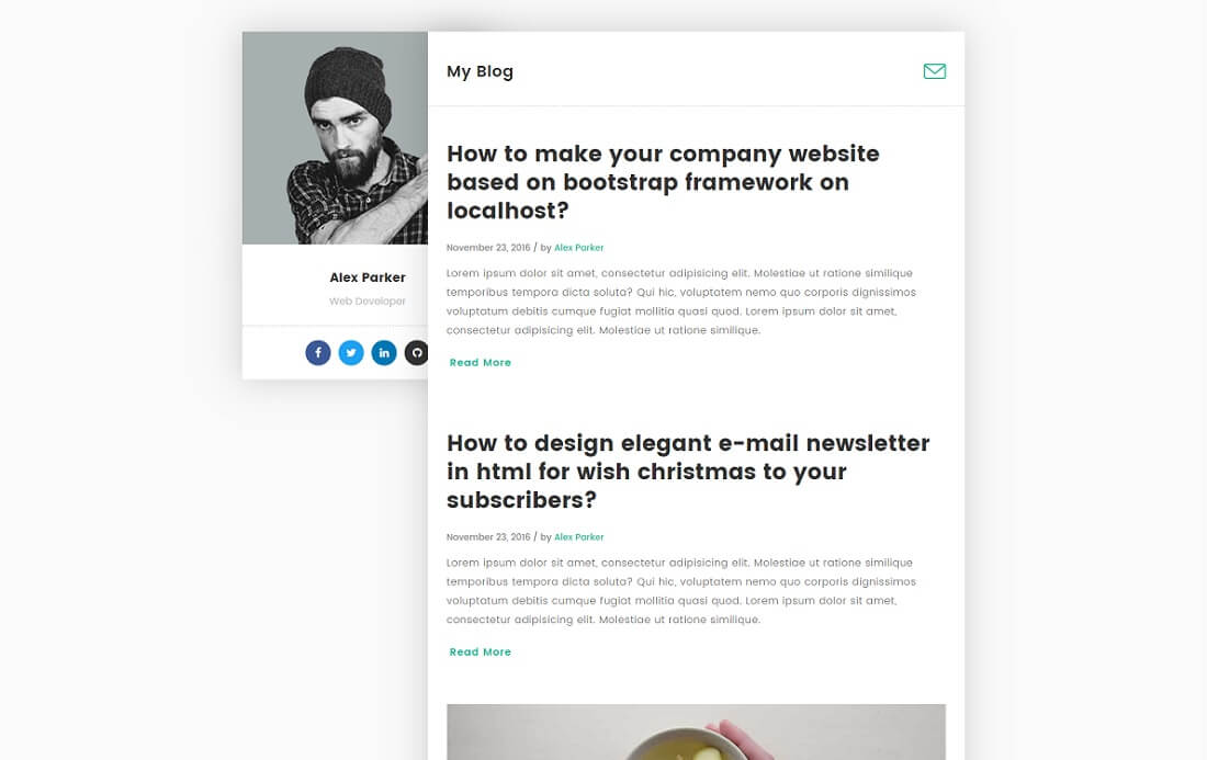 devblog free blog website template