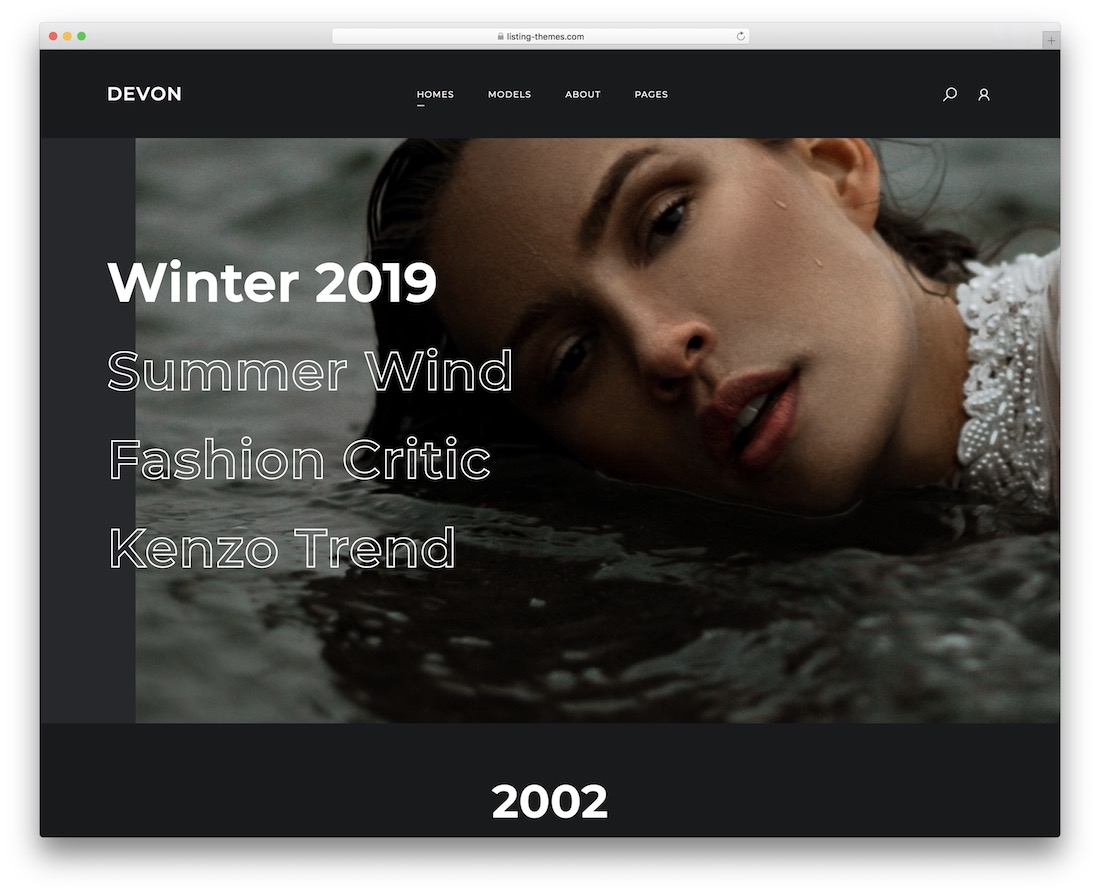 devon actor website template