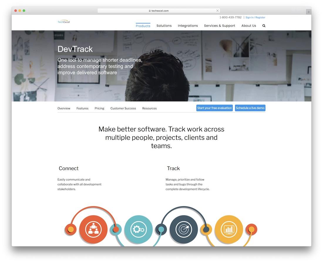 devtrack bug tracking tool