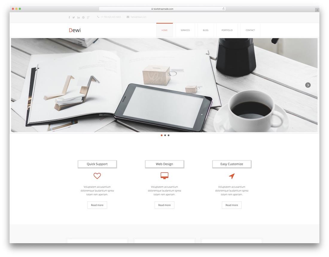 dewi free lawyer website template