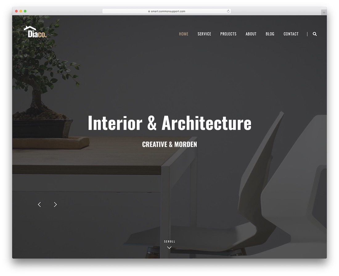 diaco interior design wordpress theme