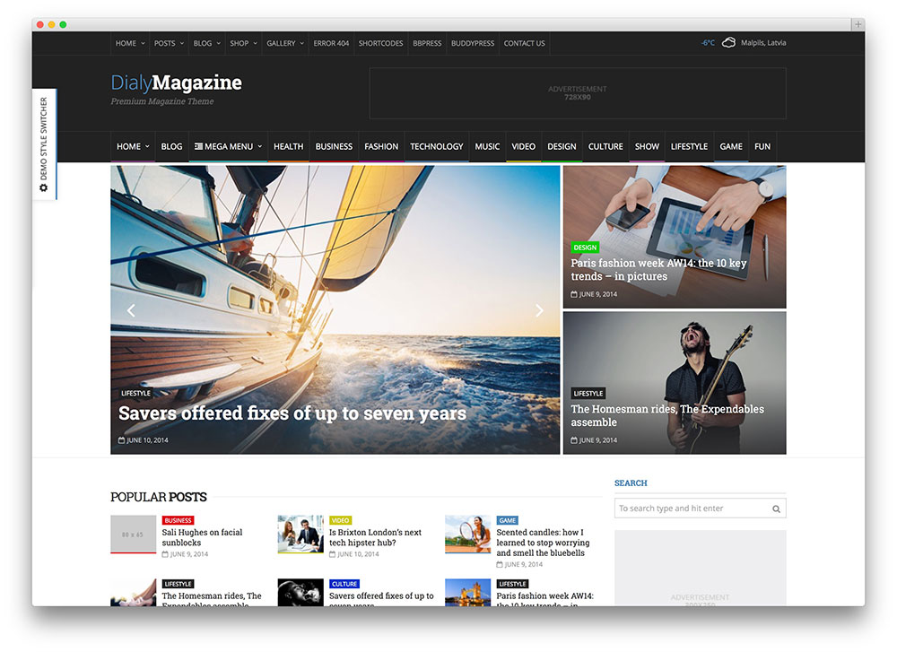 dialymagazine exotic tech news theme