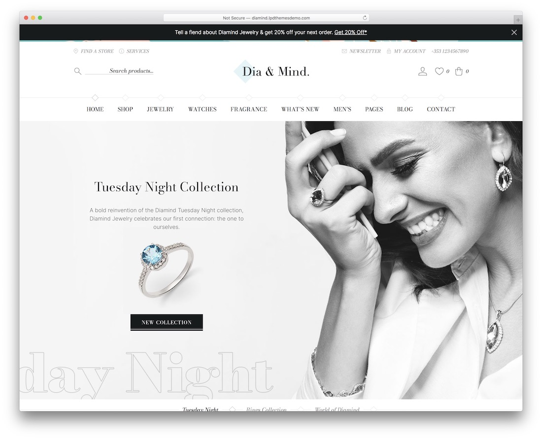 diamind jewelry wordpress theme