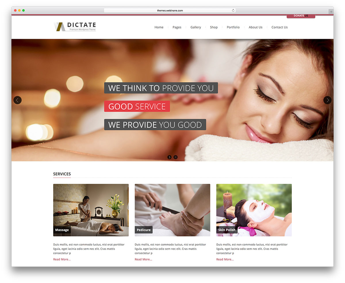 Dictate Is A Clean And Versatile Theme Built For Different Beauty Businesses Like Medical Dental Spa Salon It Has An Advanced Admin Panel That