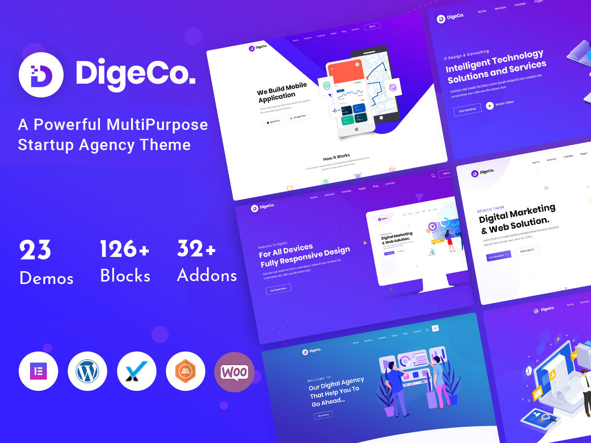 digeco - startup WordPress theme