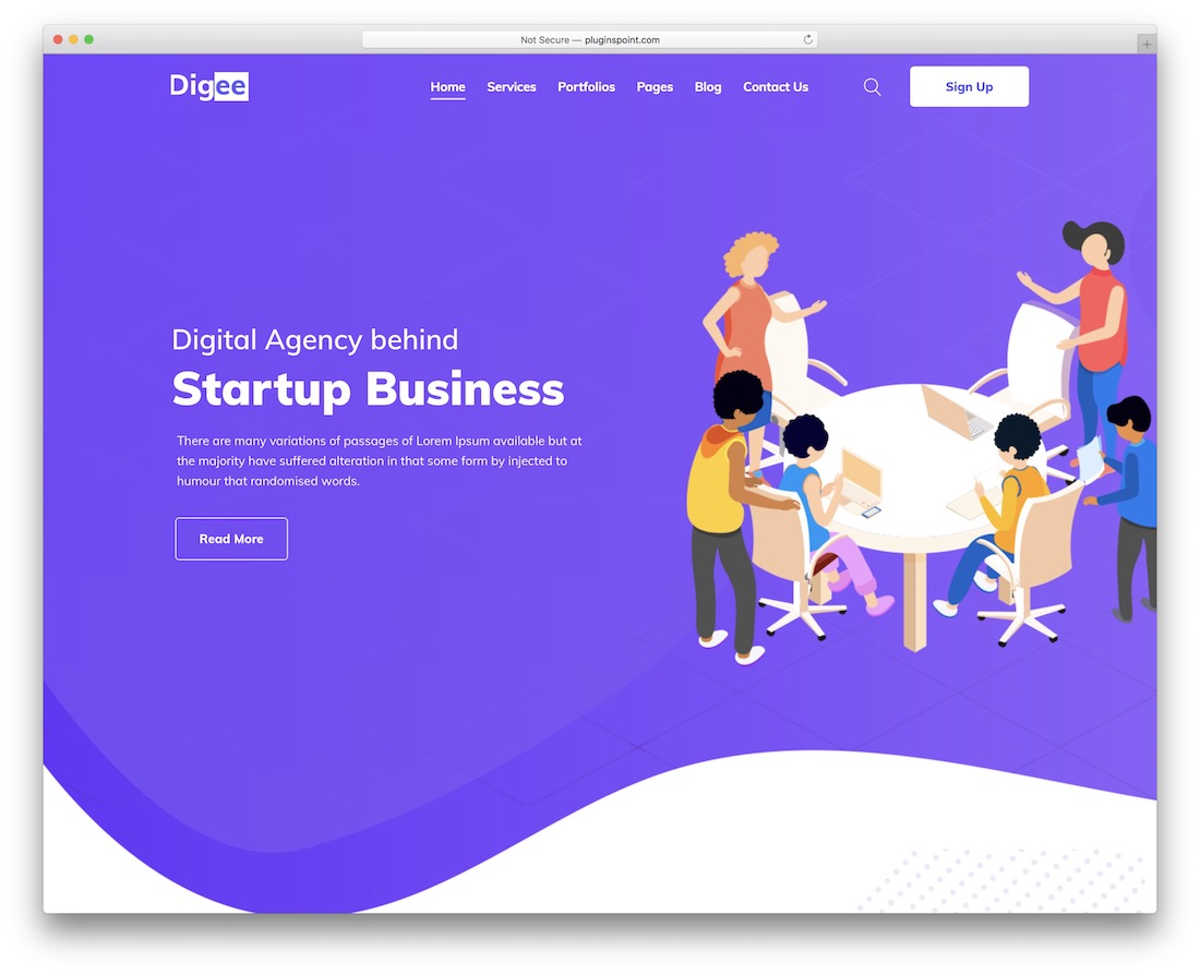digee marketing website template