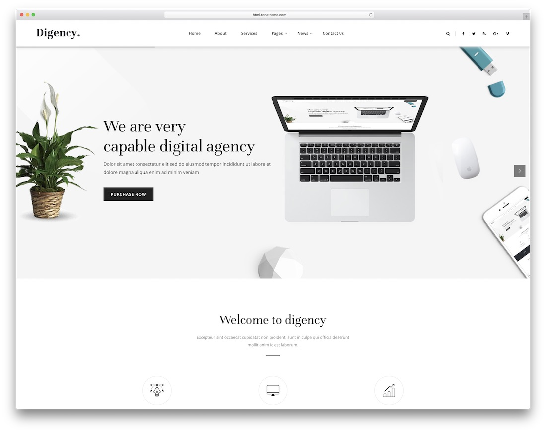 digency simple bootstrap template