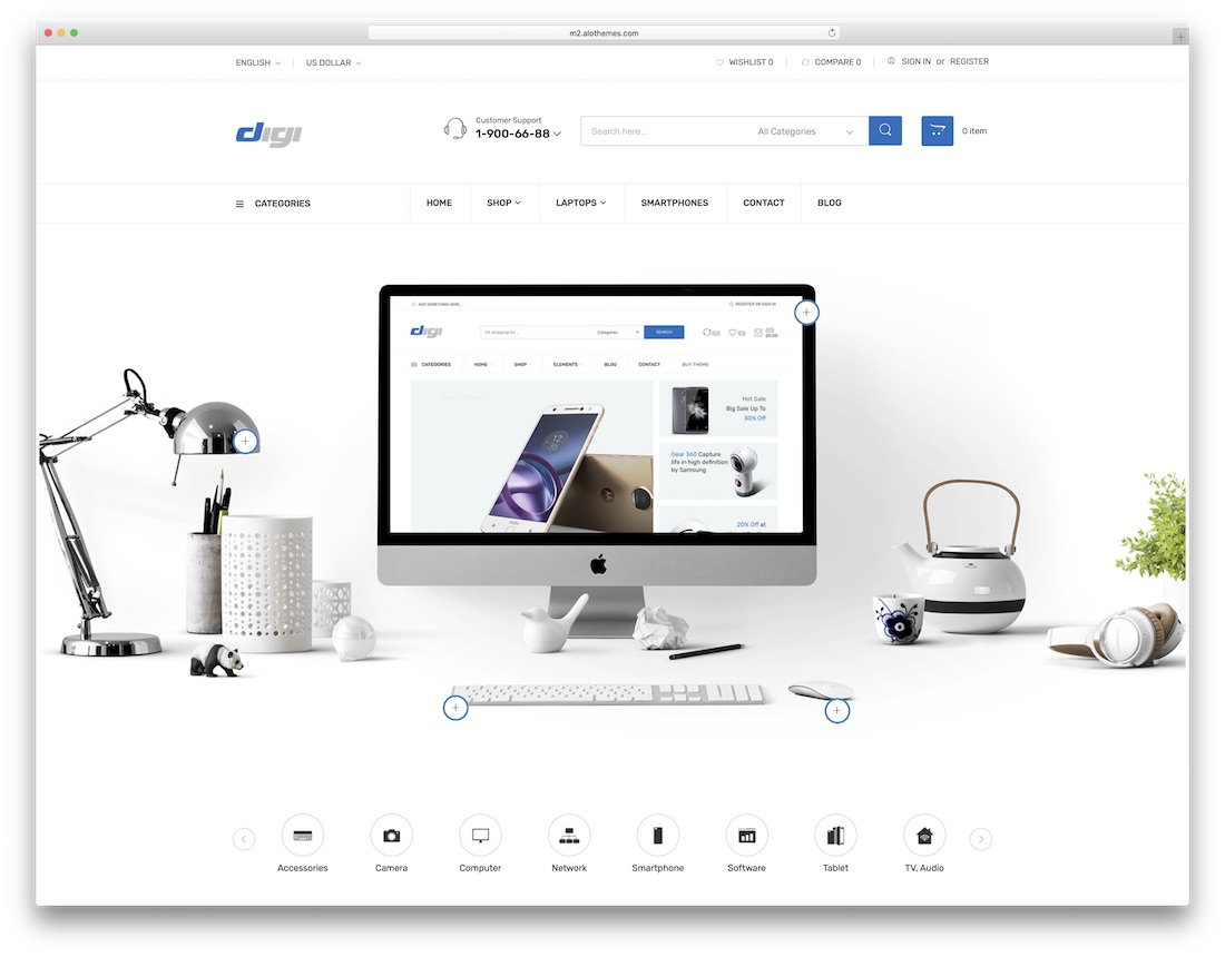 digi magento technology theme