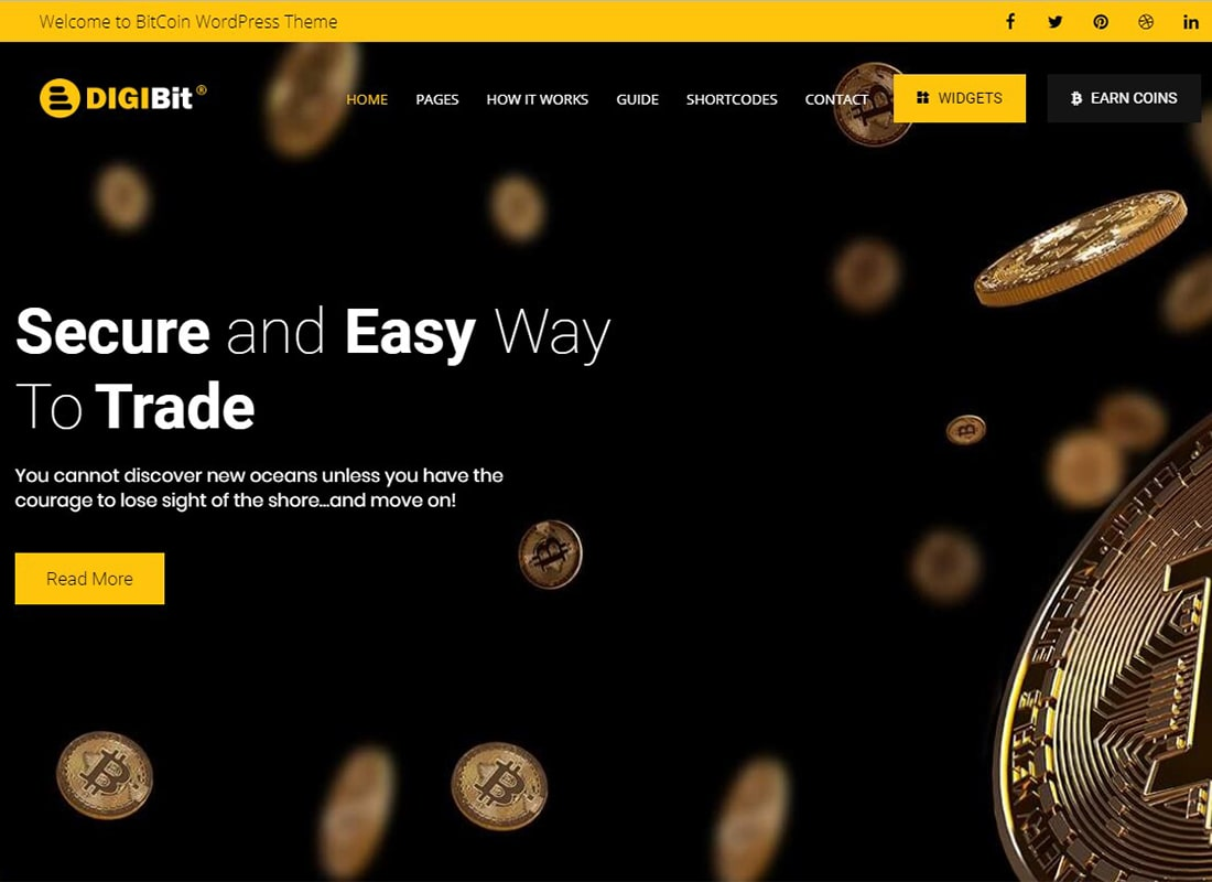 DigiBit | Cryptocurrency Mining WordPress Theme