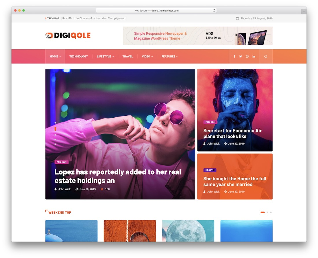 digiqole news website template