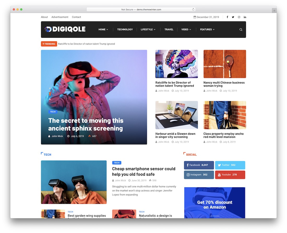 digiqole wordpress newspaper theme